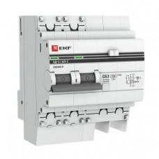 Выключатель автоматический дифференциальный АД-2 2п 40А C 30мА тип AC (4 мод) PROxima (электронный) | DA2-40-30-pro | EKF