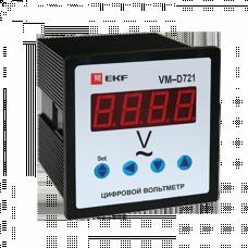 Вольтметр VM-D721 цифровой на панель 72х72 однофазный EKF PROxima | vd-721| EKF