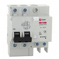 Дифференциальный автомат АД-2 50А/30мА (характеристика C, тип AC) 4,5кА EKF | DA2-50-30 | EKF