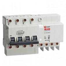 Дифференциальный автомат АД-4 63А/300мА (характеристика C, тип AC) 4,5кА EKF | DA4-63-300 | EKF