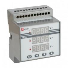 Вольтметр VM-DG33 цифровой на DIN трехфазный | vd-g33 | EKF