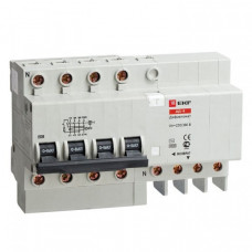 Дифференциальный автомат АД-4 32А/30мА (характеристика C, тип AC) 4,5кА EKF | DA4-32-30 | EKF