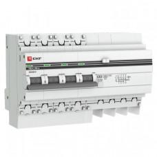 Выключатель автоматический дифференциальный АД-4 4п 6А C 30мА тип AC (8 мод) PROxima (электронный) | DA4-06-30-pro | EKF