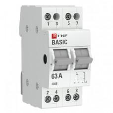 Трехпозиционный переключатель 2P 40А EKF Basic   tps-2-40   EKF
