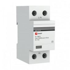 Устройство защиты от импульсных перенапряжений Тип 1 Iimp 25kA (10/350?s) 1P EKF|spd-t1-25-1p|EKF