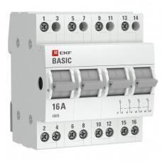 Трехпозиционный переключатель 4P 16А EKF Basic   tps-4-16   EKF
