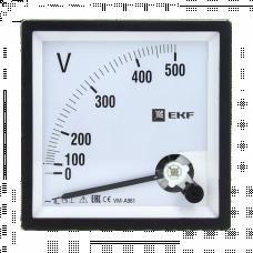 Вольтметр VM-A961аналоговый на панель 96х96 (квадратный вырез) 300В прямое подключение EKF PROxima | vm-a961-300 | EKF