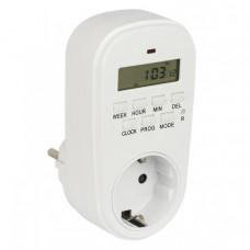 Розеточный электронный таймер SAT-20p 16A недельный EKF PROxima | SAT-20p | EKF