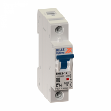 Выключатель автоматический однополюсный OptiDin BM63 16А C 6кА (BM63-1C16-УХЛ3) | 103545 | КЭАЗ