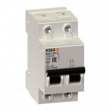 Выключатель автоматический двухполюсный ВА47-29 4А C 4,5кА (ВА47-29-2C4-УХЛ3) | 253163 | КЭАЗ