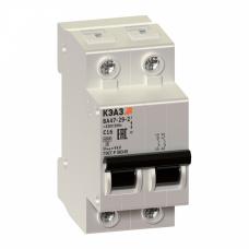 Выключатель автоматический двухполюсный ВА47-29 10А C 4,5кА (ВА47-29-2C10-УХЛ3) | 141592 | КЭАЗ