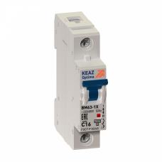 Выключатель автоматический однополюсный OptiDin BM63-OT 16А D 6кА (BM63-OT-1D16-УХЛ3) | 219951 | КЭАЗ