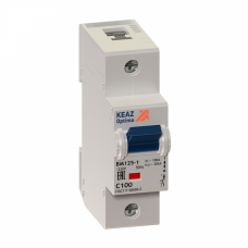 Выключатель автоматический двухполюсный (1п+N) OptiDin BM125 125А C 10кА (BM125-2NC125-8ln-УХЛ3) | 138542 | КЭАЗ