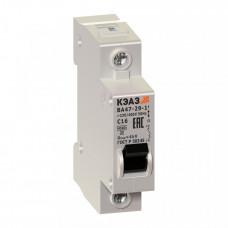 Выключатель автоматический однополюсный ВА47-29 10А C 4,5кА (ВА47-29-1C10-УХЛ3) | 141487 | КЭАЗ