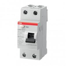 Выключатель дифференциальный (УЗО) FH202AC-40/0,1 40А 100мА | 2CSF202006R2400 | ABB
