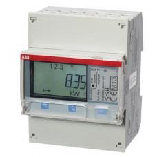 Счетчик 3-фазный активной энергии,1-тарифный,кл. точности 1,трансф. вкл. 1(6)А, имп. выход,RS485,тип A44 112-200|2CMA100557R1000| ABB