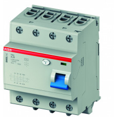 Выключатель дифференциальный (УЗО) F404A-S63/0.1 63А 100мА   2CCF544220E0630   ABB