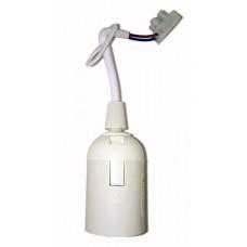 Патрон подвесной с шнуром пластик Е27 белый (50 шт), стикер на изделии Ппл27-04-К51 | EPP14-04-01-K01 | IEK