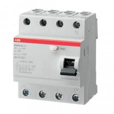 Выключатель дифференциальный (УЗО) FH204AC-63/0,1 63А 100мА | 2CSF204006R2630 | ABB