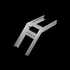 Угол лестничный верт. внеш. 45 град 100х500 HD | LVL45*100*500*1.5 HD | КМ-профиль