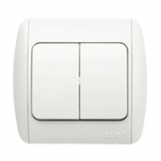 ZIRVE бел/бел выключатель 2кл 501-010202-202  ABB