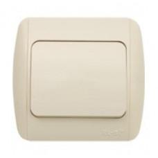 ZIRVE крем/крем выключатель 1кл 501-010303-200  ABB