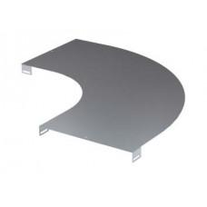 Крышка на угол горизонтальный 90 градусов, осн.200, R-300, нержавеющая | LK0023INOX | DKC