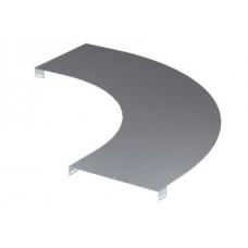Крышка на угол горизонтальный 90 градусов, осн.300, R-600, нержавеющая | LK0036INOX | DKC