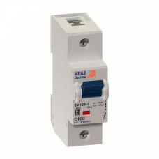 Выключатель автоматический двухполюсный (1п+N) OptiDin BM125 80А C 10кА (BM125-2NC80-8ln-УХЛ3) | 138540 | КЭАЗ