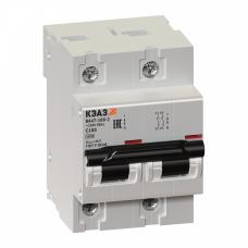 Выключатель автоматический двухполюсный ВА47-100 100А C 10кА (ВА47-100-2С100-УХЛ3) | 218966 | КЭАЗ