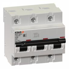 Выключатель автоматический трехполюсный ВА47-100 63А C 10кА (ВА47-100-3С63-УХЛ3) | 233034 | КЭАЗ