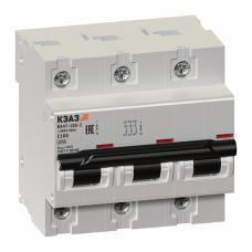 Выключатель автоматический трехполюсный ВА47-100 80А C 10кА (ВА47-100-3С80-УХЛ3) | 141629 | КЭАЗ