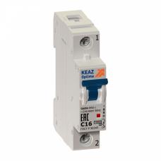 Выключатель автоматический однополюсный OptiDin BM63 16А C 10кА (BM63-1C16-10-УХЛ3)   249256   КЭАЗ