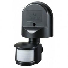 Датчик движения ДД 008 черный, макс. нагрузка 1100Вт, угол обзора 180град., дальность 12м, IP44,   LDD10-008-1100-002   IEK