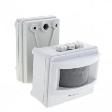 Датчик движения ИК MS-01 белый на прожектор 1200Вт 120гр. до 12м IP44 PROxima | dd-ms-01-w | EKF