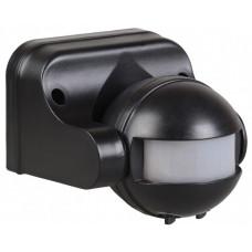 Датчик движения ДД 009 черный, макс. нагрузка 1100Вт, угол обзора 180град., дальность 12м, IP44,   LDD10-009-1100-002   IEK
