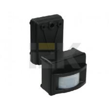 Датчик движения ДД 017 черный, макс. нагрузка 1100Вт, угол обзора 120град., дальность 12м, IP44,   LDD13-017-1100-002   IEK