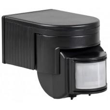 Датчик движения ДД 012 черный, макс. нагрузка 1100Вт, угол обзора 180град., дальность 12м, IP44,   LDD10-012-1100-002   IEK