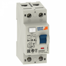 Выключатель дифференциальный (УЗО) OptiDin DМ63-2340-AС-УХЛ4 2п 40А 100мА тип AC | 254177 | КЭАЗ