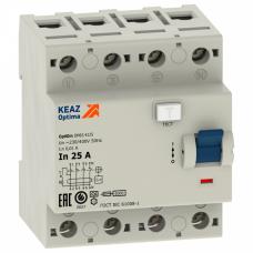 Выключатель дифференциальный (УЗО) OptiDin DМ63-4440-AС-УХЛ4 4п 40А 300мА тип AC | 254213 | КЭАЗ