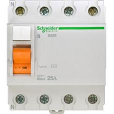 Выключатель дифференциальный (УЗО) ВД63 4п 25А 30мА тип AC | 11460 | Schneider Electric