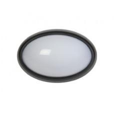 Светильник светодиодный ДПО 3041 12Вт 4500К IP54 овал черный пластик | LDPO0-3041-12-4500-K01 | IEK