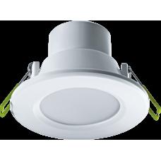 Светильник светодиодный ДВО NDL-P1-6W-830-WH-LED (аналог R63 60 Вт)(d100) 6Вт 3000К IP44 опал | 94899 | Navigator