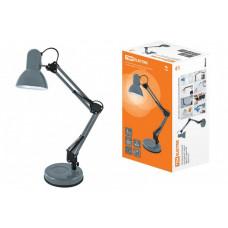 Светильник настольный на основании 2 колена 60Вт ЛН/КЛЛ/LED Е27 серый | SQ0337-0111 | TDM