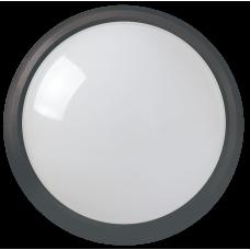 Светильник светодиодный ДПО 3011 8Вт 4500K IP54 круг пластик черный | LDPO0-3011-8-4500-K01 | IEK