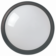 Светильник светодиодный ДПО 3011 8Вт 4500К IP54 круг черный пластик | LDPO0-3011-8-4500-K01 | IEK