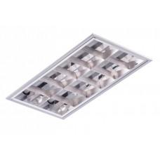 Светильник светодиодный ЛВО TLC218-1 EL 2x18Вт ЛЛ T8 G13 610x295x85 мм зеркальный IP20 | 02522 | Technolux