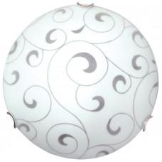 Светильник НПБ Морокко 300 01-139 М16 2х60Вт ЛН/КЛЛ/LED Е27 IP20 опал белый, клипсы хром | 1005204322 | Элетех