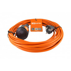 Удлинитель-шнур силовой УШз16 (штепс. гнездо, 20м ПВС 3х1,0) | SQ1301-0616 | TDM