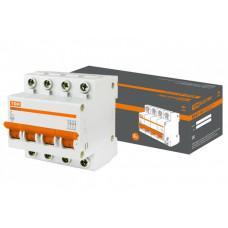 Выключатель автоматический четырехполюсный ВА47-63 63А C 4,5кА | SQ0218-0036 | TDM